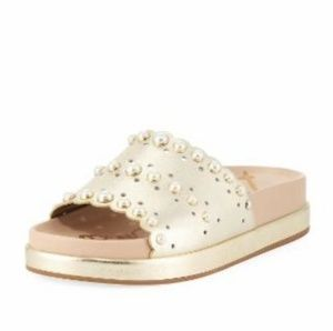 Sam Edelman Sera Pearl Metallic Womens Slides